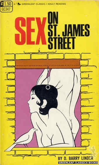 Greenleaf Classics GC347 - Sex On St. James Street by D. Barry Linder, cover art by Unknown (1968)