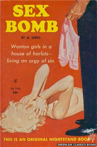 Nightstand Books NB1538 - Sex Bomb by Al James, cover art by Harold W. McCauley (1960)