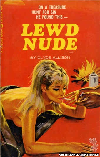 Leisure Books LB1137 - Lewd Nude by Clyde Allison, cover art by Robert Bonfils (1966)