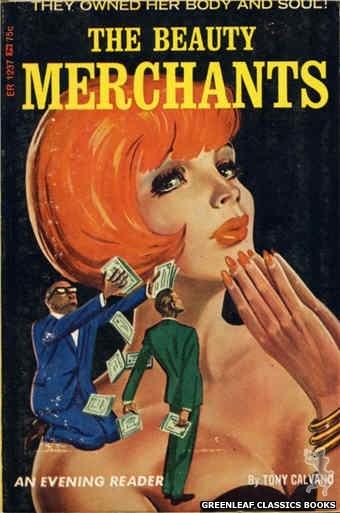 Evening Reader ER1237 - The Beauty Merchants by Tony Calvano, cover art by Tomas Cannizarro (1966)