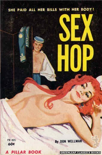 Pillar Books PB805 - Sex Hop by Don Wellman, cover art by Unknown (1963)