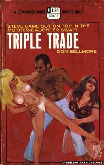 Companion Books CB693 - Triple Trade by Don Bellmore, cover art by Robert Bonfils (1971)