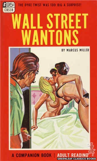 Companion Books CB538 - Wall Street Wantons by Marcus Miller, cover art by Tomas Cannizarro (1967)
