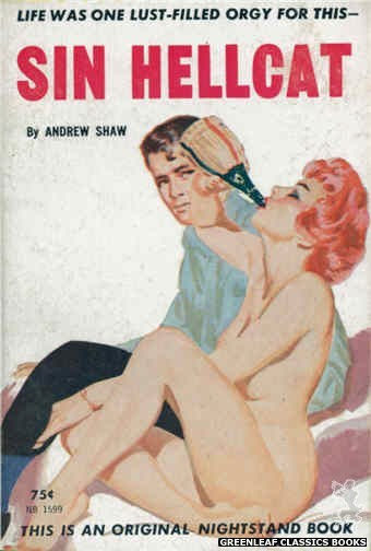 Nightstand Books NB1599 - Sin Hellcat by Andrew Shaw, cover art by Harold W. McCauley (1962)
