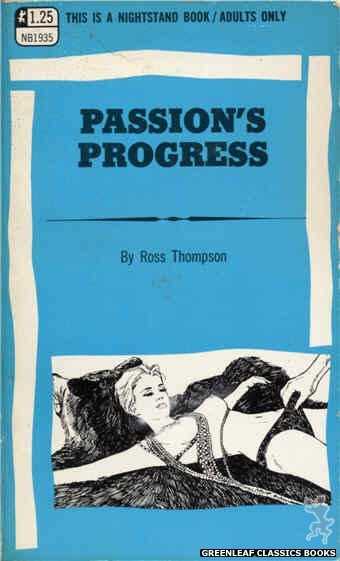 Nightstand Books NB1935 - Passion's Progress by Ross Thompson, cover art by Harry Bremner (1969)