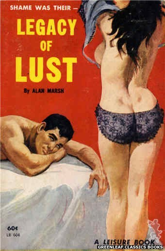 Leisure Books LB604 - Legacy of Lust by Alan Marsh, cover art by Robert Bonfils (1963)