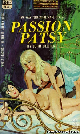 Ember Library EL 393 - Passion Patsy by John Dexter, cover art by Robert Bonfils (1967)