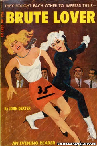 Evening Reader ER1235 - Brute Lover by John Dexter, cover art by Darrel Millsap (1966)