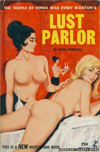 Nightstand Books NB1740 - Lust Parlor by Alan Marshall, cover art by Unknown (1965)