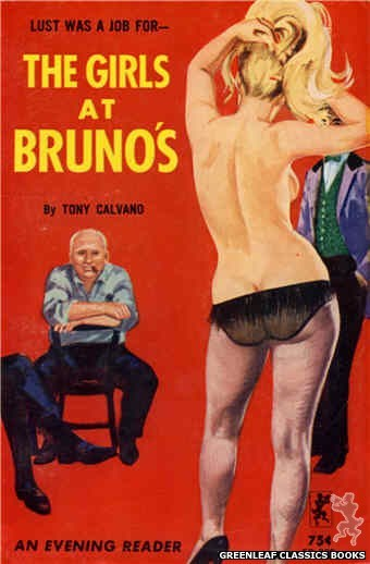 Evening Reader ER762 - The Girls at Bruno's by Tony Calvano, cover art by Robert Bonfils (1964)