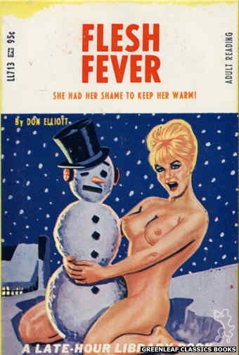 Late-Hour Library LL713 - Flesh Fever by Don Elliott, cover art by Tomas Cannizarro (1967)