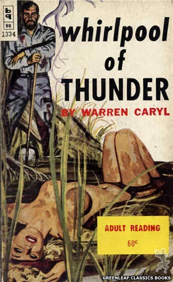 Bedside Books BB 1334 - Whirlpool of Thunder by Warren Caryl, cover art by Robert Bonfils (1963)