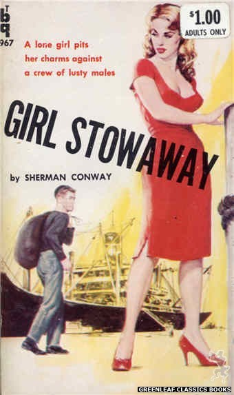 Bedside Books BTB 967 - Girl Stowaway by Sherman Conway, cover art by Unknown (1960)