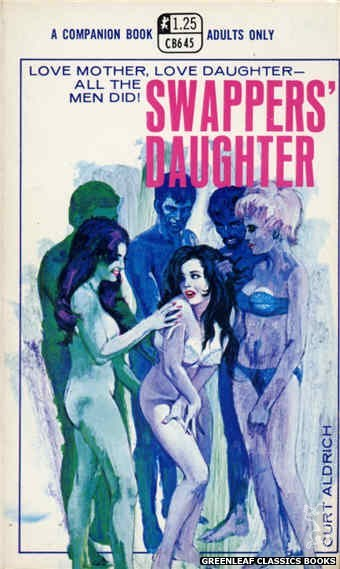 Companion Books CB645 - Swappers' Daughter by Curt Aldrich, cover art by Robert Bonfils (1970)