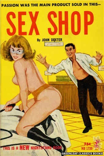 Nightstand Books NB1739 - Sex Shop by John Dexter, cover art by Unknown (1965)