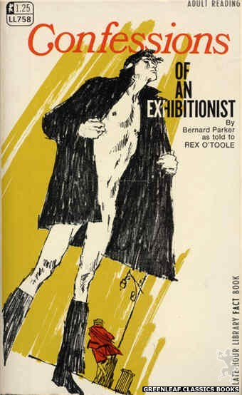 Late-Hour Library LL758 - Confessions Of An Exhibitionist by Rex O'Toole, cover art by Unknown (1968)