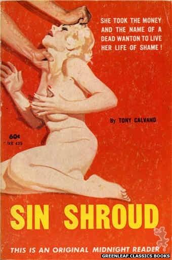 Midnight Reader 1961 MR435 - Sin Shroud by Tony Calvano, cover art by Harold W. McCauley (1962)