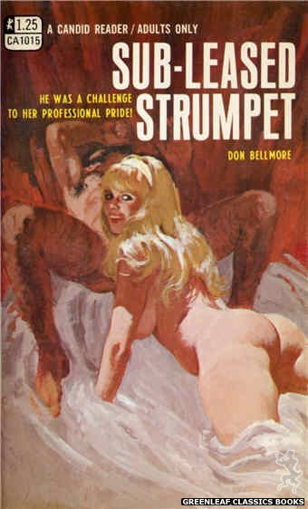 Candid Reader CA1015 - Sub-Leased Strumpet by Don Bellmore, cover art by Robert Bonfils (1970)