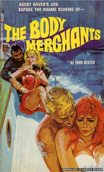 Ember Library EL 337 - The Body Merchants by John Dexter, cover art by Robert Bonfils (1966)