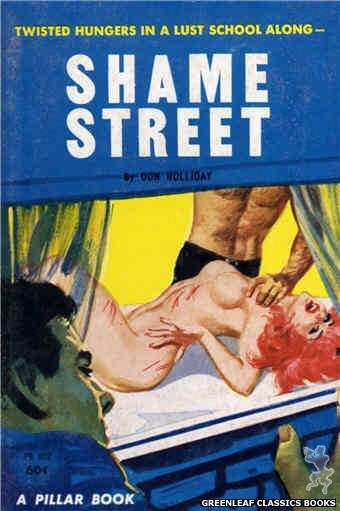Pillar Books PB802 - Shame Street by Don Holliday, cover art by Robert Bonfils (1963)