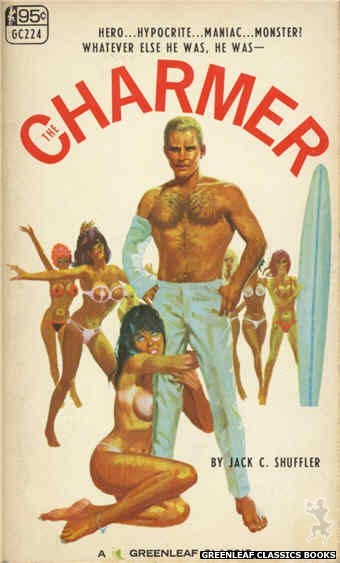 Greenleaf Classics GC224 - The Charmer by Jack C. Schuffler, cover art by Robert Bonfils (1967)