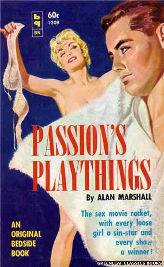 Bedside Books BB 1208 - Passion's Playthings by Alan Marshall, cover art by Harold W. McCauley (1961)