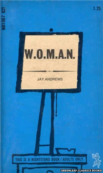 Nightstand Books NB1967 - W.O.M.A.N. by Jay Andrews, cover art by Cut Out Cover (1970)