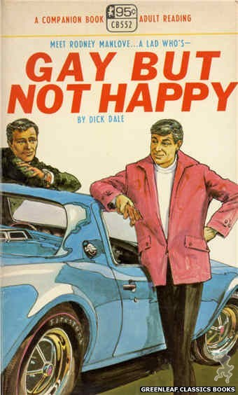 Companion Books CB552 - Gay But Not Happy by Dick Dale, cover art by Robert Kinyon (1968)