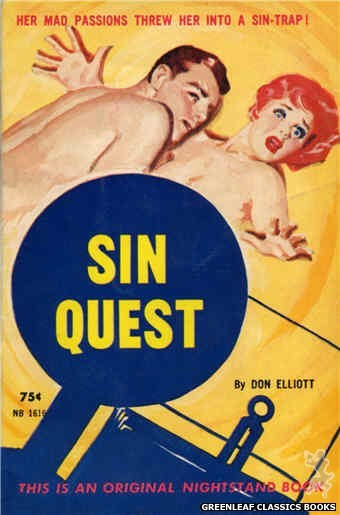 Nightstand Books NB1616 - Sin Quest by Don Elliott, cover art by Harold W. McCauley (1962)