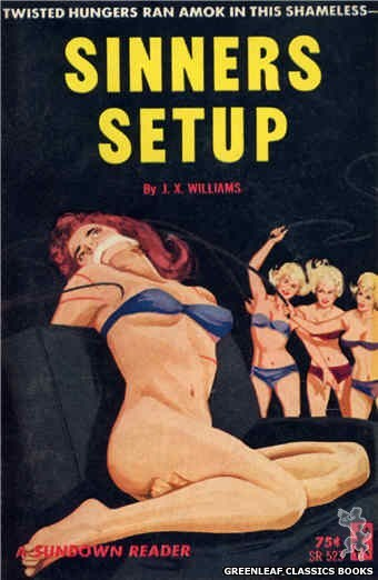 Sundown Reader SR523 - Sinners Setup by J.X. Williams, cover art by Unknown (1964)