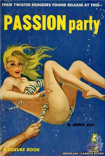 Leisure Books LB653 - Passion Party by Andrew Shay, cover art by Robert Bonfils (1964)