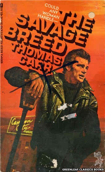 Reed Nightstand 4004 - The Savage Breed by Thomas Carr, cover art by Unknown (1974)