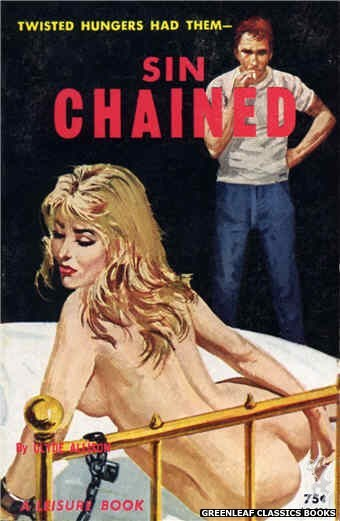 Leisure Books LB624 - Sin Chained by Clyde Allison, cover art by Robert Bonfils (1964)