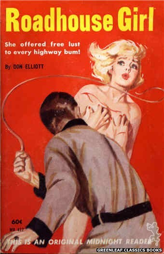 Midnight Reader 1961 MR412 - Roadhouse Girl by Don Elliott, cover art by Harold W. McCauley (1962)