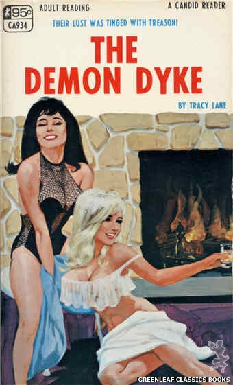 Candid Reader CA934 - The Demon Dyke by Tracy Lane, cover art by Darrel Millsap (1968)