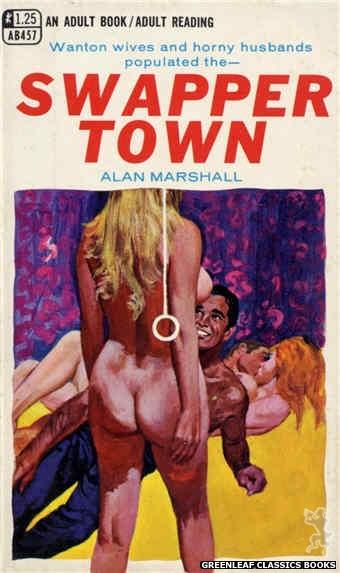Adult Books AB457 - Swapper Town by Alan Marshall, cover art by Robert Bonfils (1968)