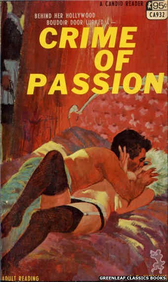 Candid Reader CA932 - Crime Of Passion by J.X. Williams, cover art by Ed Smith (1968)