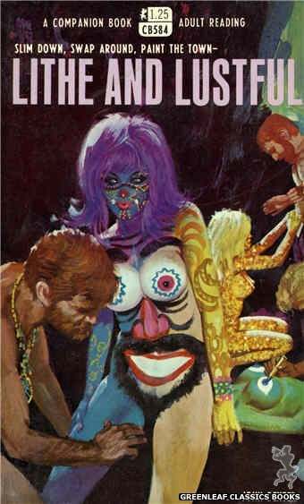 Companion Books CB584 - Lithe And Lustful by John Dexter, cover art by Robert Bonfils (1968)
