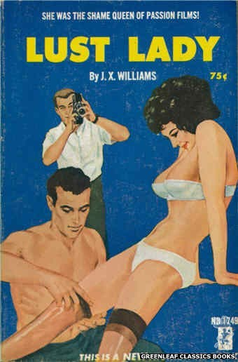 Nightstand Books NB1749 - Lust Lady by J.X. Williams, cover art by Darrel Millsap (1965)