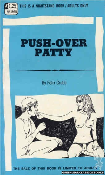 Nightstand Books NB1955 - Push-Over Patty by Felix Grubb, cover art by Harry Bremner (1969)