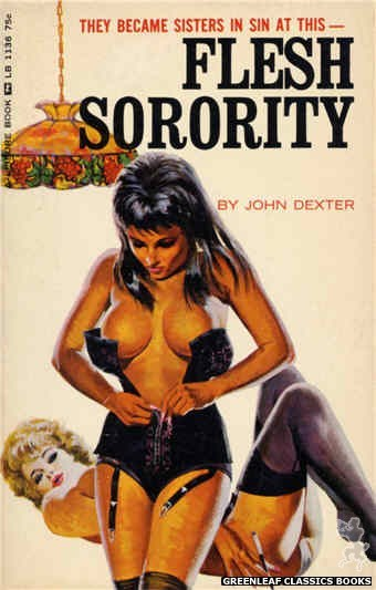 Leisure Books LB1136 - Flesh Sorority by John Dexter, cover art by Robert Bonfils (1966)