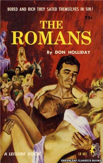 Leisure Books LB681 - The Romans by Don Holliday, cover art by Robert Bonfils (1965)