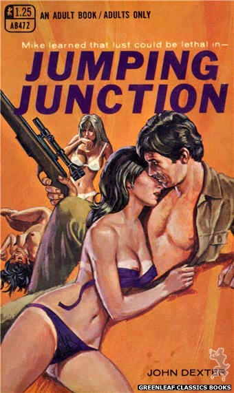 Adult Books AB472 - Jumping Junction by John Dexter, cover art by Ed Smith (1969)