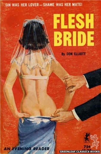 Evening Reader ER758 - Flesh Bride by Don Elliott, cover art by Unknown (1964)