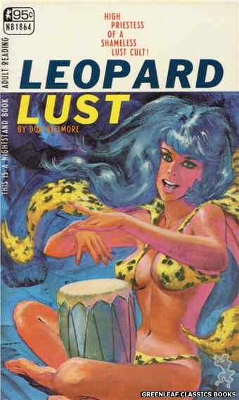 Nightstand Books NB1864 - Leopard Lust by Don Bellmore, cover art by Darrel Millsap (1967)