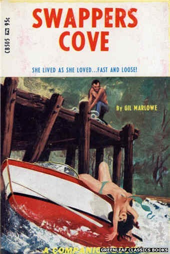 Companion Books CB505 - Swappers Cove by Gil Marlowe, cover art by Darrel Millsap (1967)
