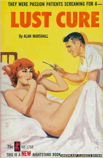 Nightstand Books NB1758 - Lust Cure by Alan Marshall, cover art by Unknown (1965)