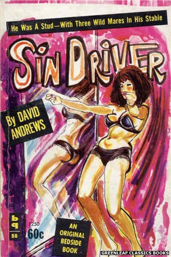 Bedside Books BB 1250 - Sin Driver by David Andrews, cover art by Unknown (1963)