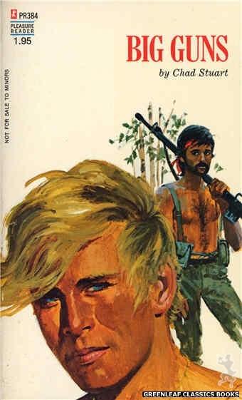 Pleasure Reader PR384 - Big Guns by Chad Stuart, cover art by Robert Bonfils (1972)