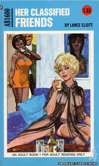 Adult Books AB1600 - Her Classified Friends by Lance Eliott, cover art by Unknown (1971)